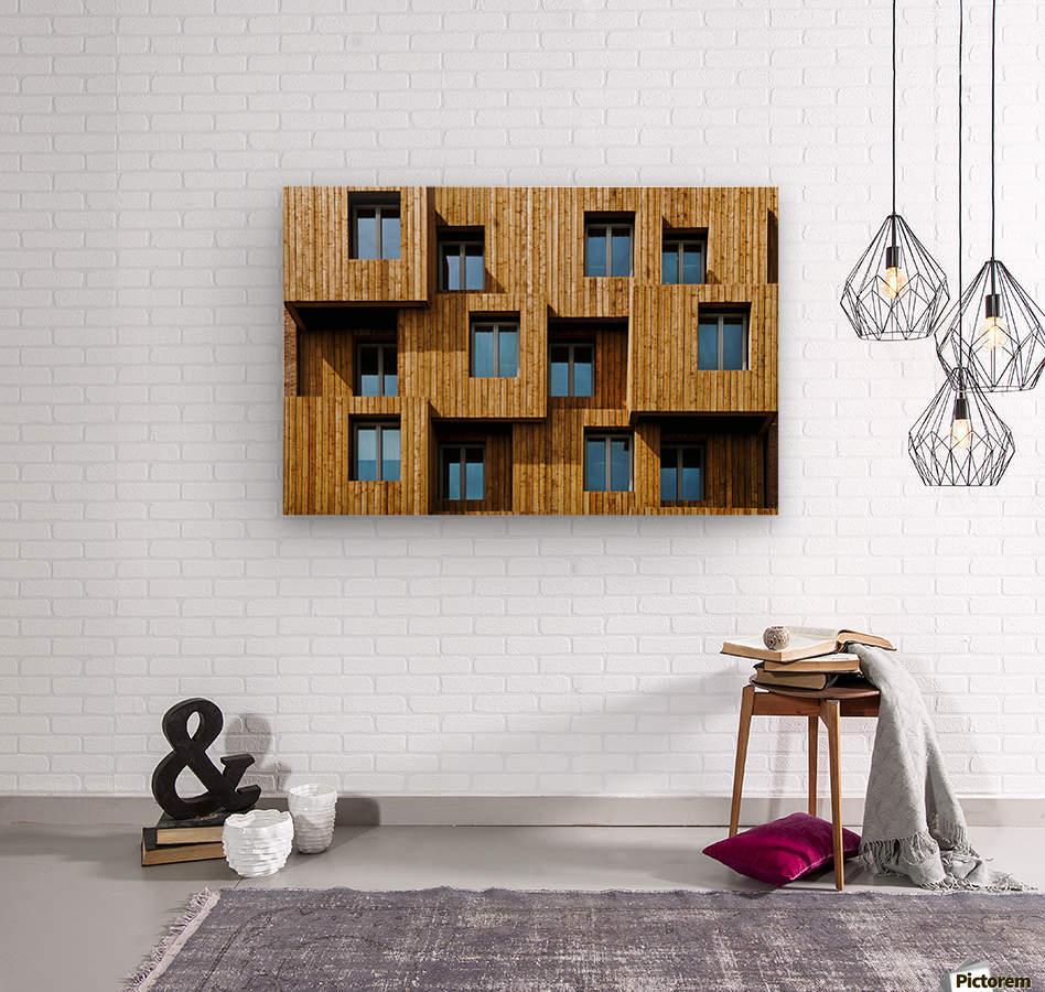 Little boxes  Wood print