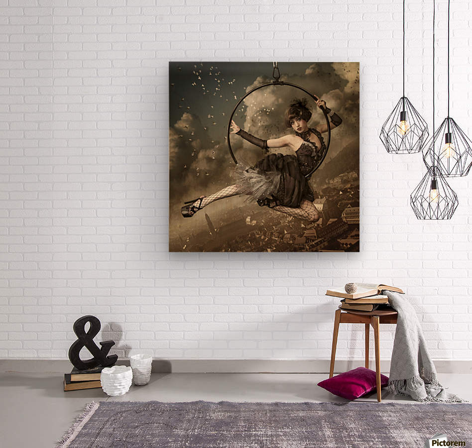 the greatest show in the sky  Wood print