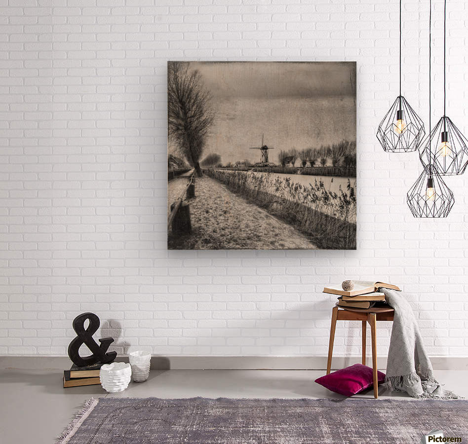 My beloved flat country: Damme  Wood print