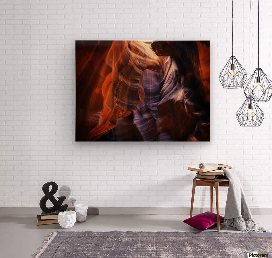 Light Up Above  Wood print