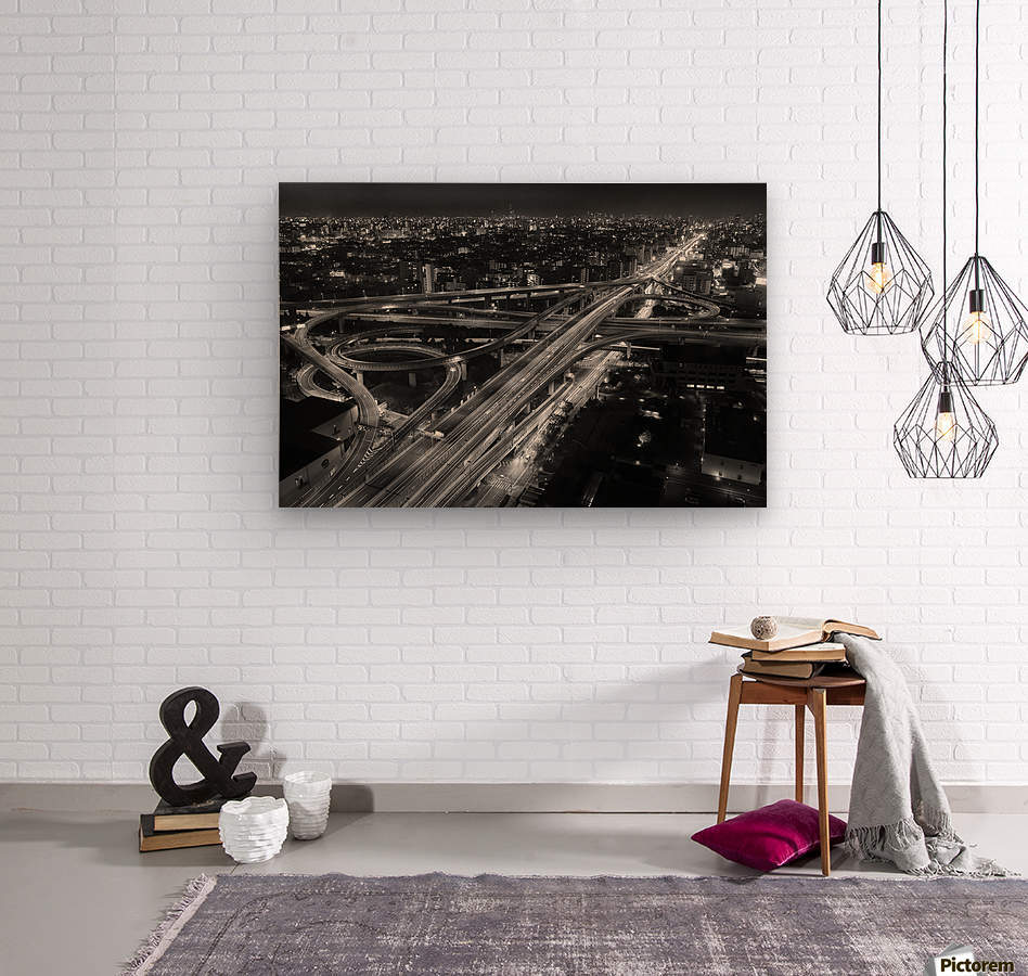 motorway  Wood print