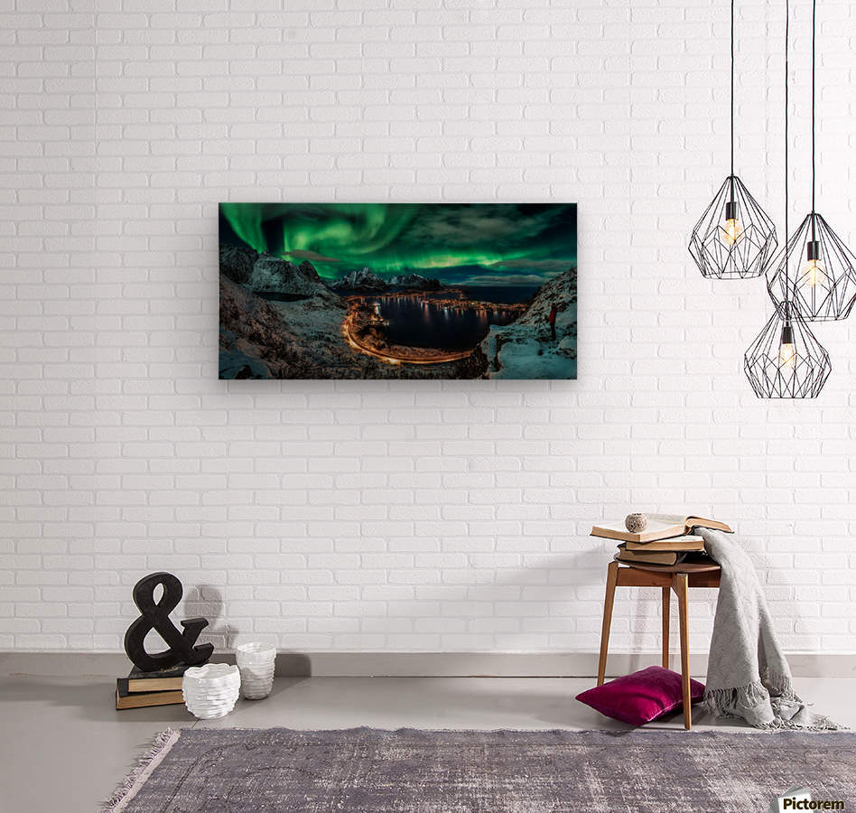 Chasing the Northern Lights  Wood print