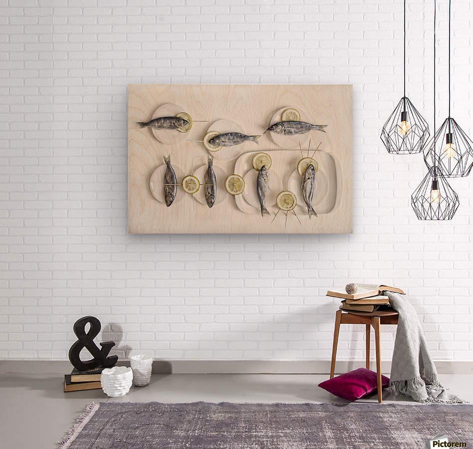 Still Life with Fish  Wood print