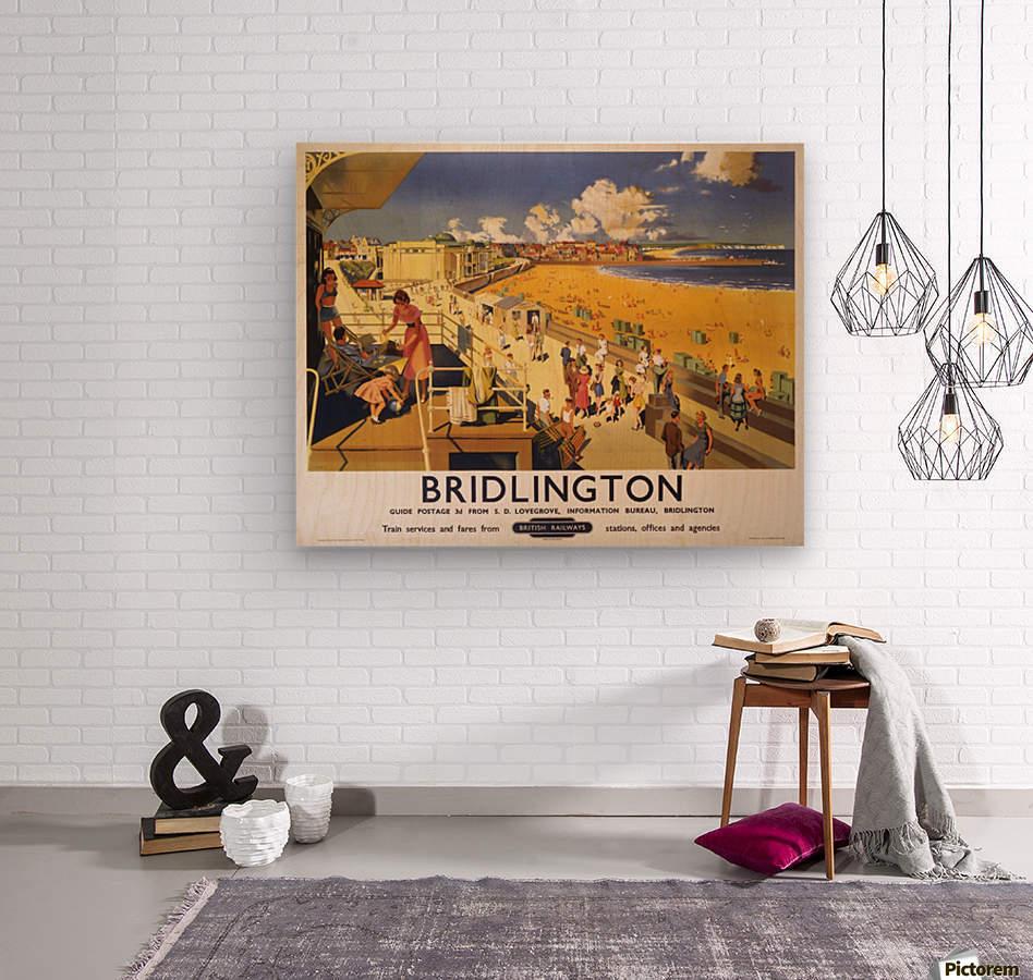 Bridlington poster Blake, F Donald 1950  Wood print