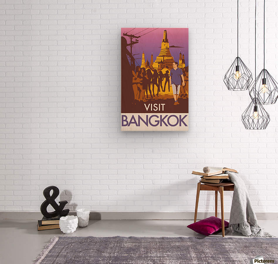 Visit Bangkok  Wood print