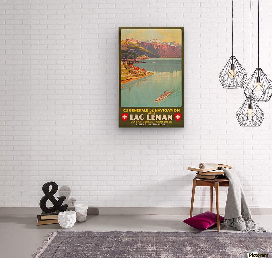 Lake of Geneva  Wood print