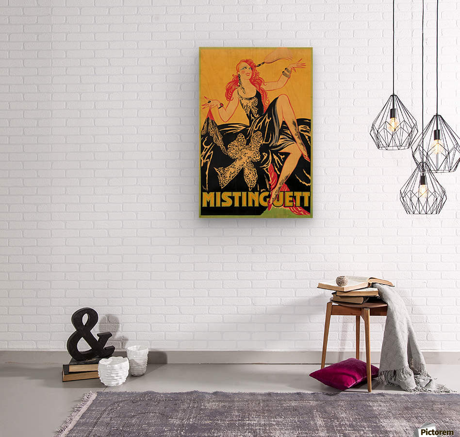 Mistinguett poster, 1920  Wood print