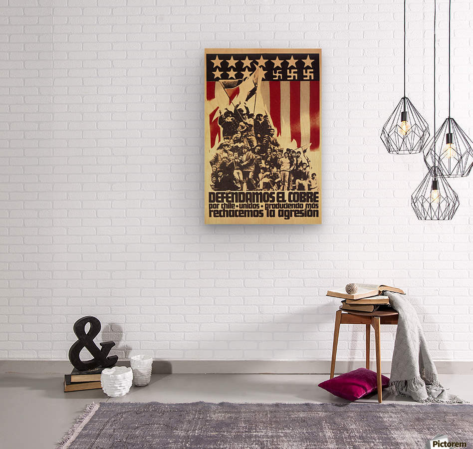Defend Chile copper from the USA  Wood print