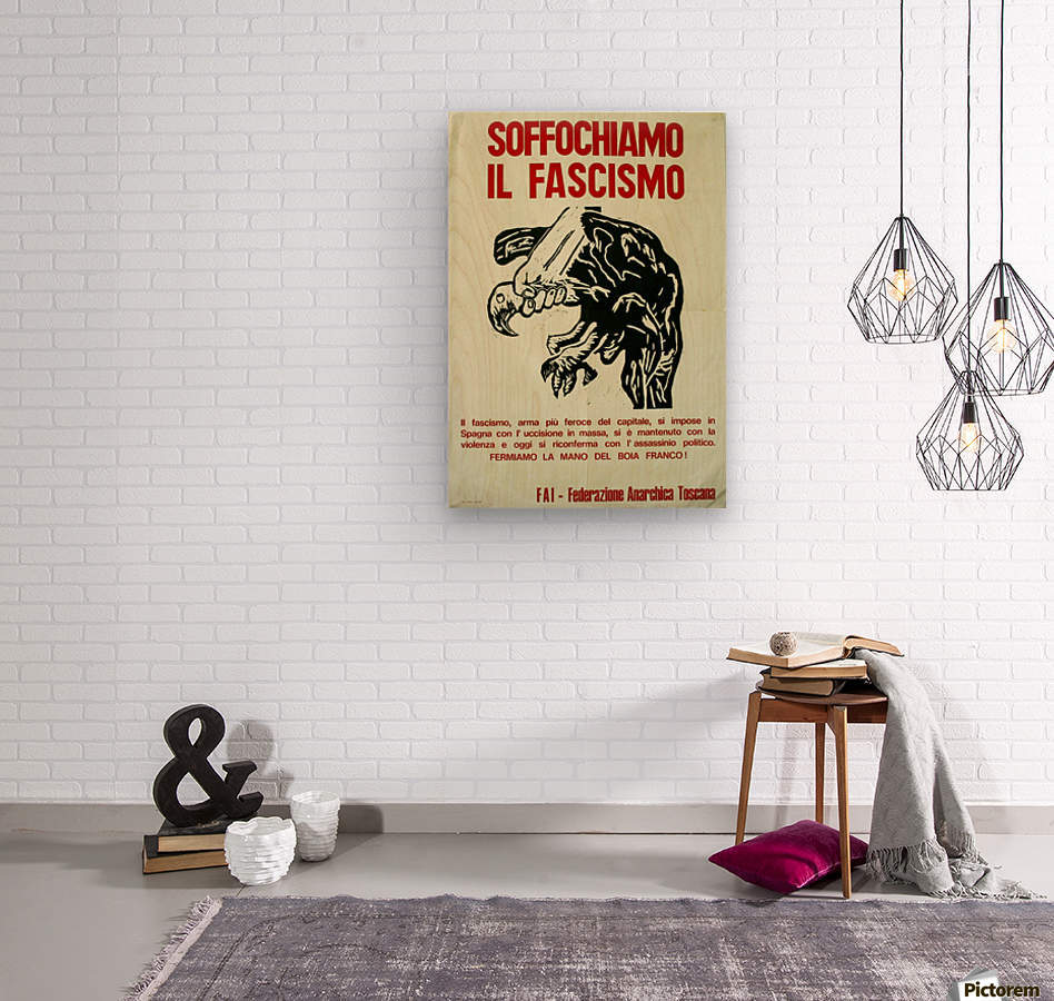 Suffocate fascism  Wood print