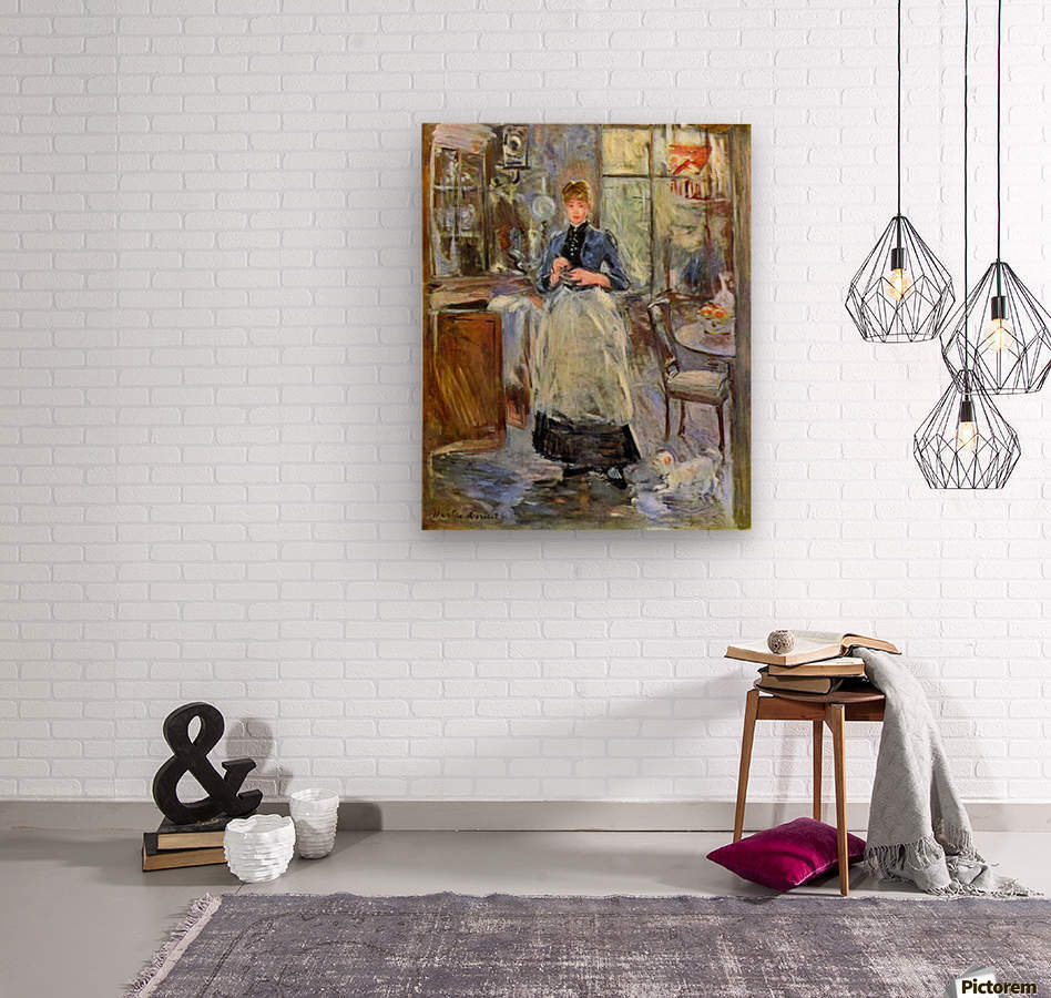 The Dining Room by Morisot  Wood print