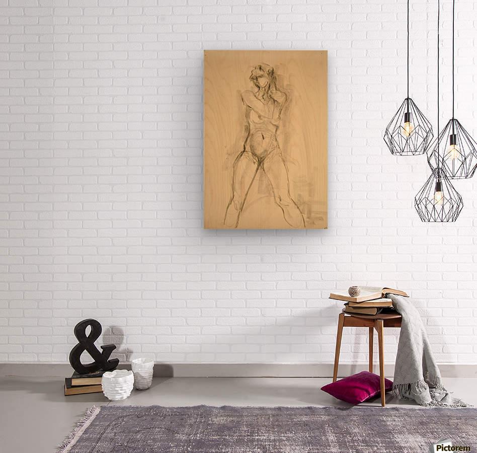 Female Nude Study  Wood print