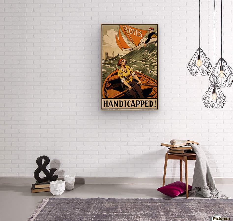 Handicapped  Wood print