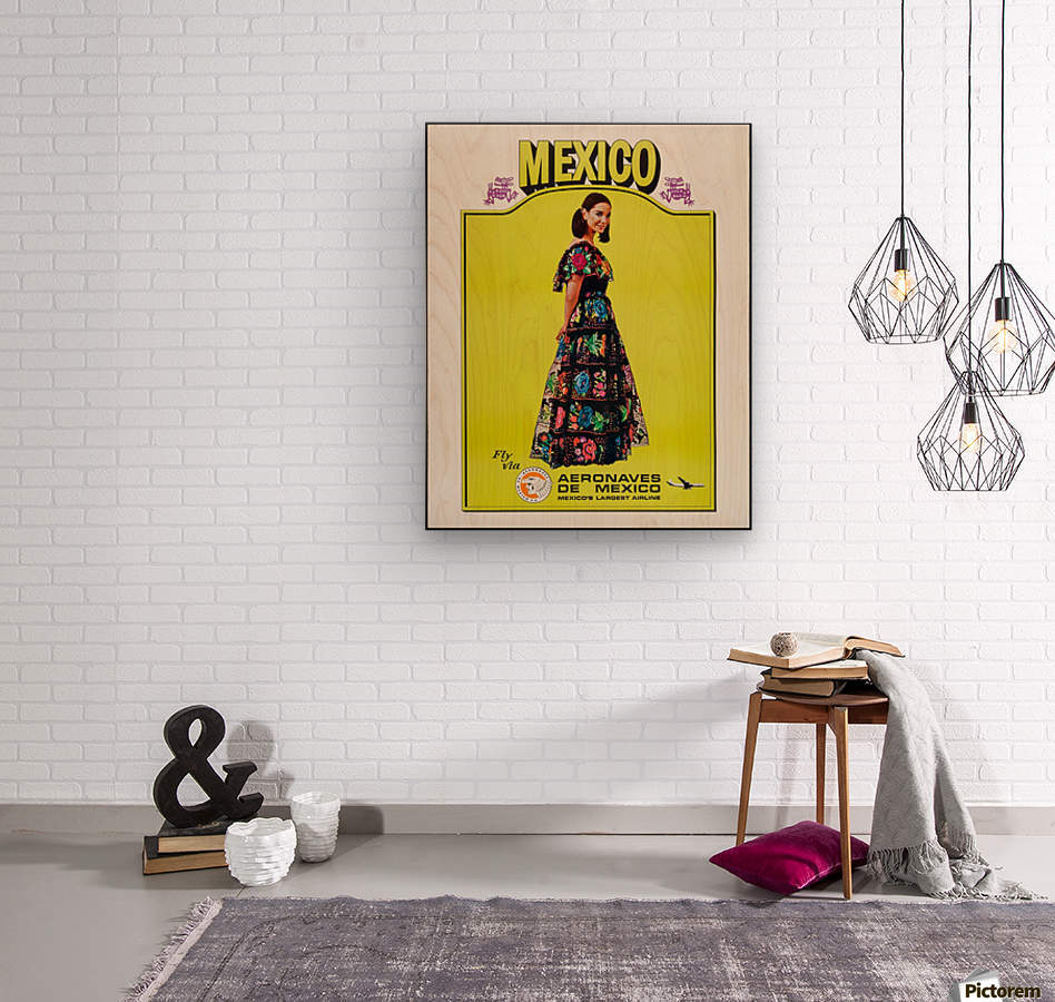 Aeronaves de Mexico Poster  Wood print