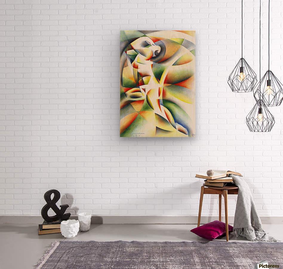 Roundism - 12-10-16  Wood print