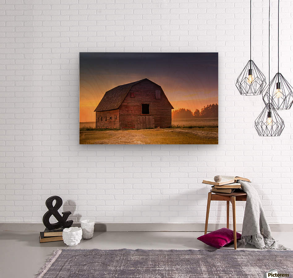 Rickety Barn  Wood print