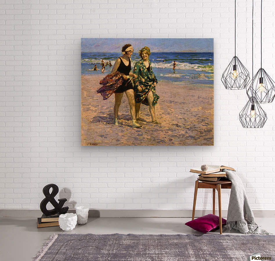 Blonde and Brunette  Wood print