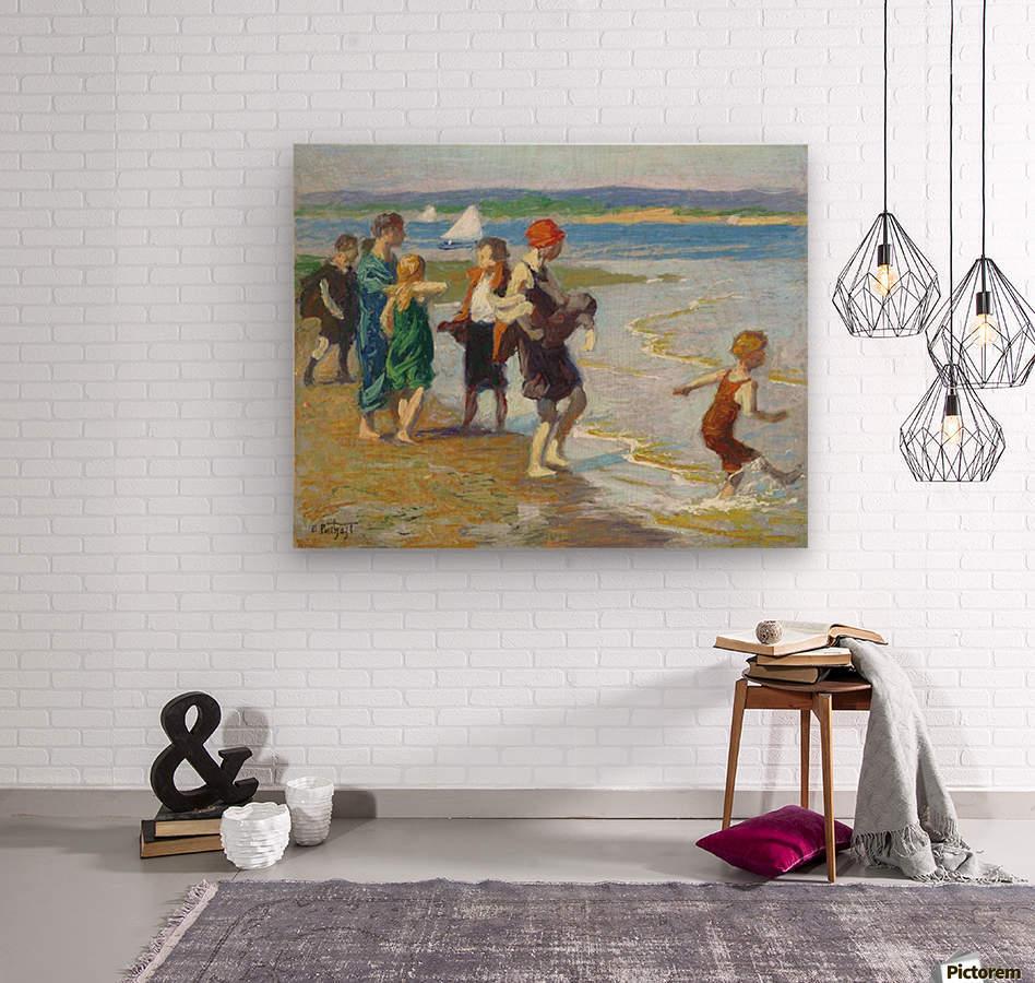 The bathing beach  Wood print