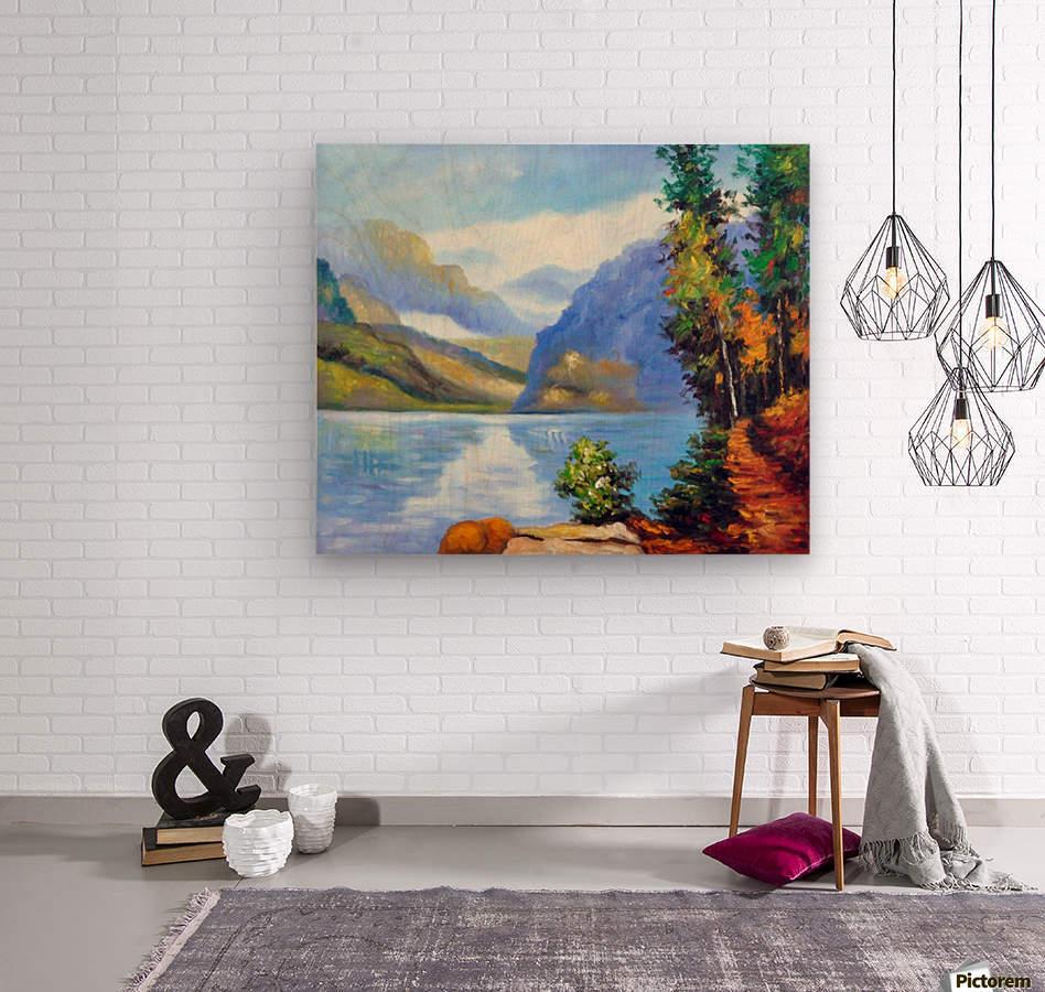Lake Louise, British Columbia  Wood print