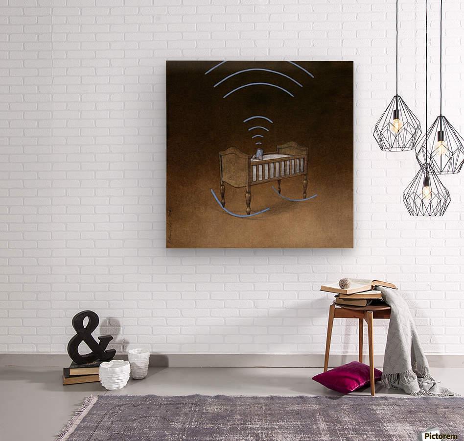 wireless  Wood print