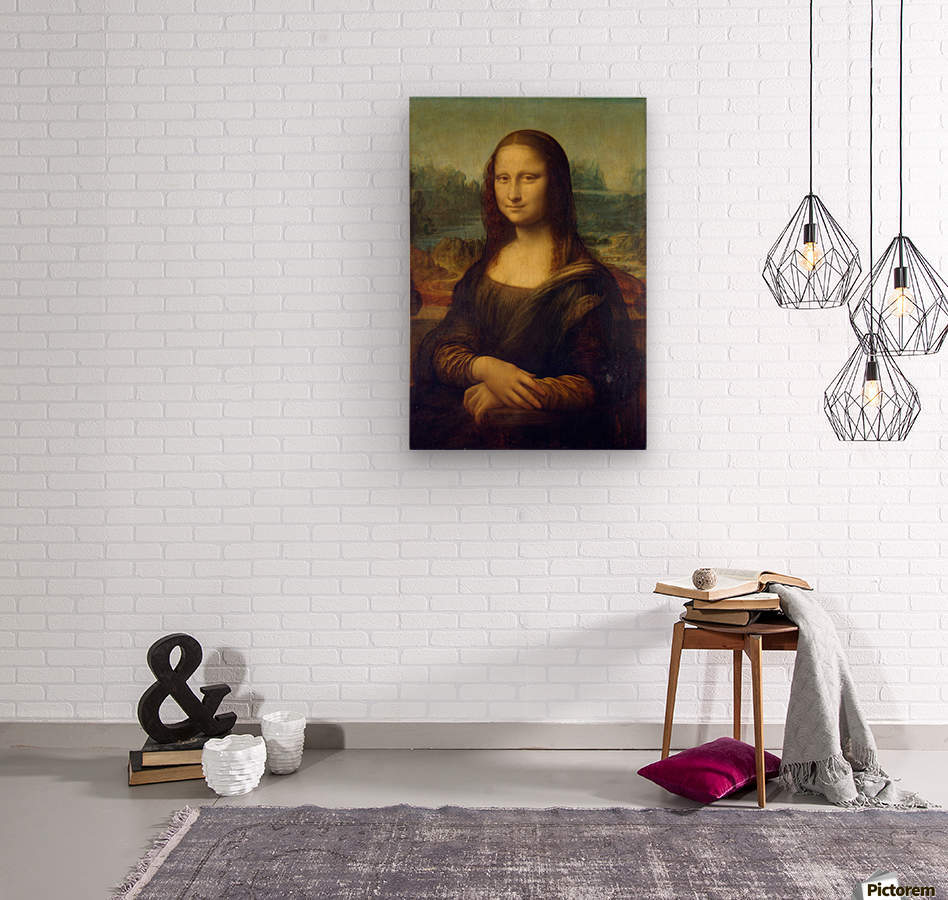 Mona Lisa Leonardo Da Vinci La Gioconda Oil Painting  Wood print