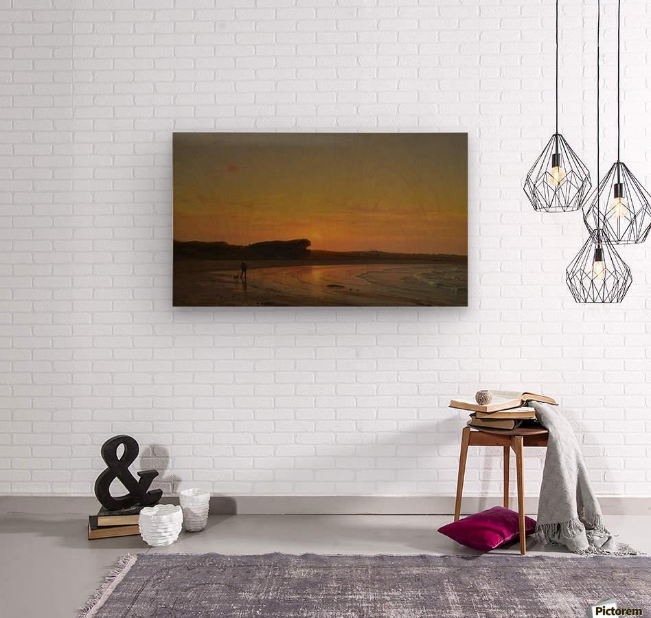 Second Beach Newport  Wood print