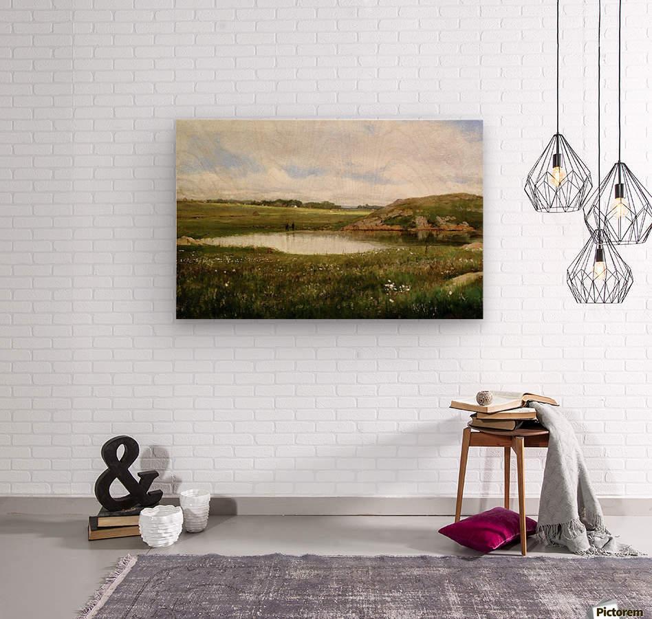 Freshwater Pond in Summer Rhode Island  Wood print