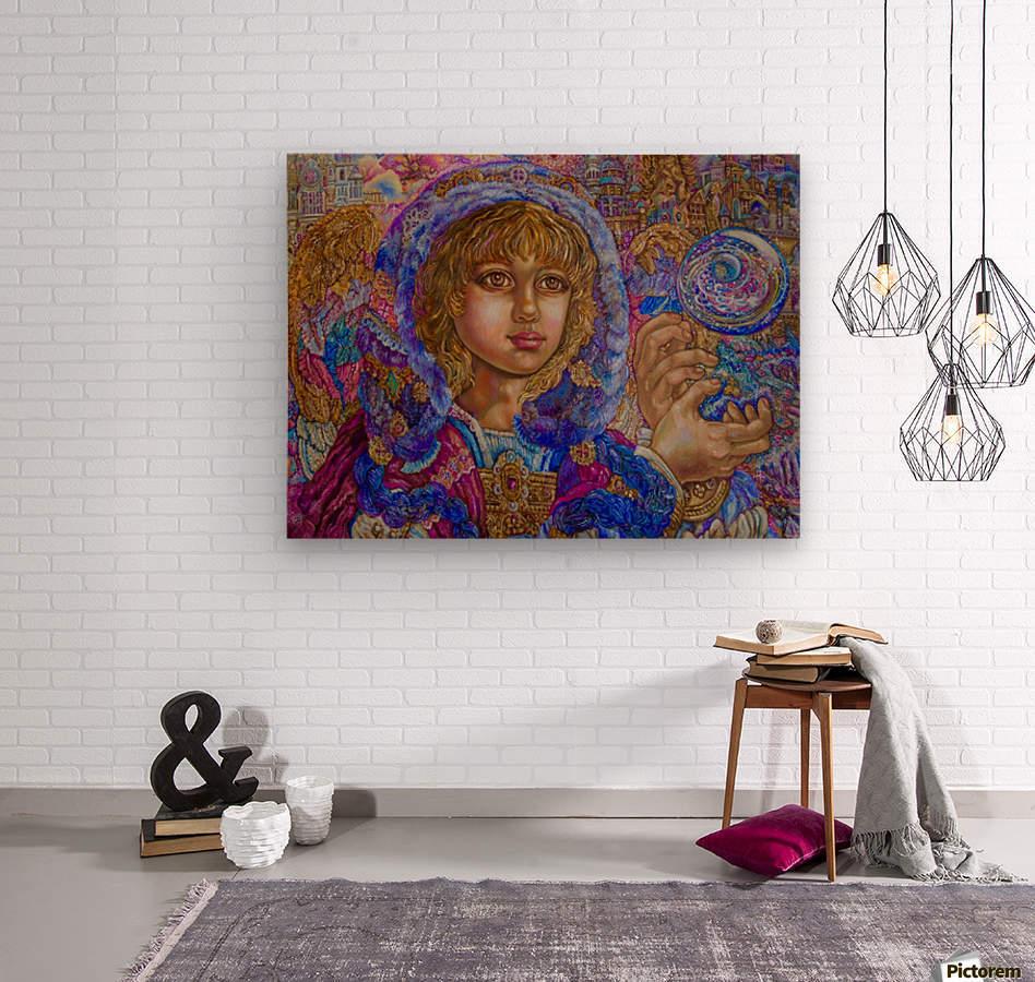 Yumi Sugai. Achangel Jeremiel.  Wood print