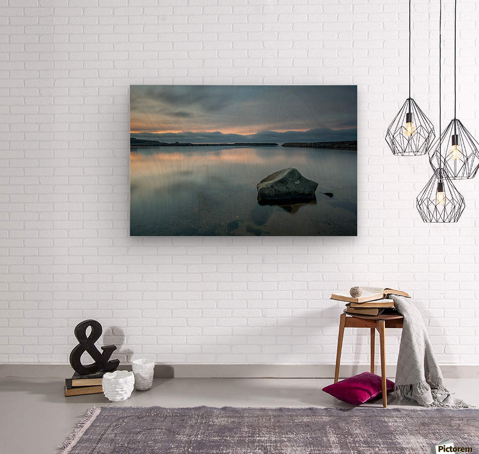 Inside the Harbour  Wood print