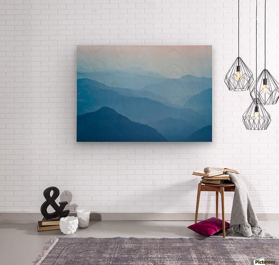Himalayas  Wood print