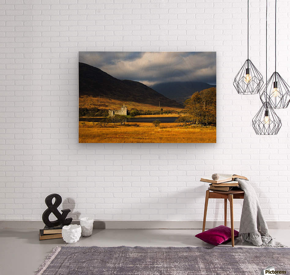 Kilchurn Castle, Loch Awe, Scotland  Wood print
