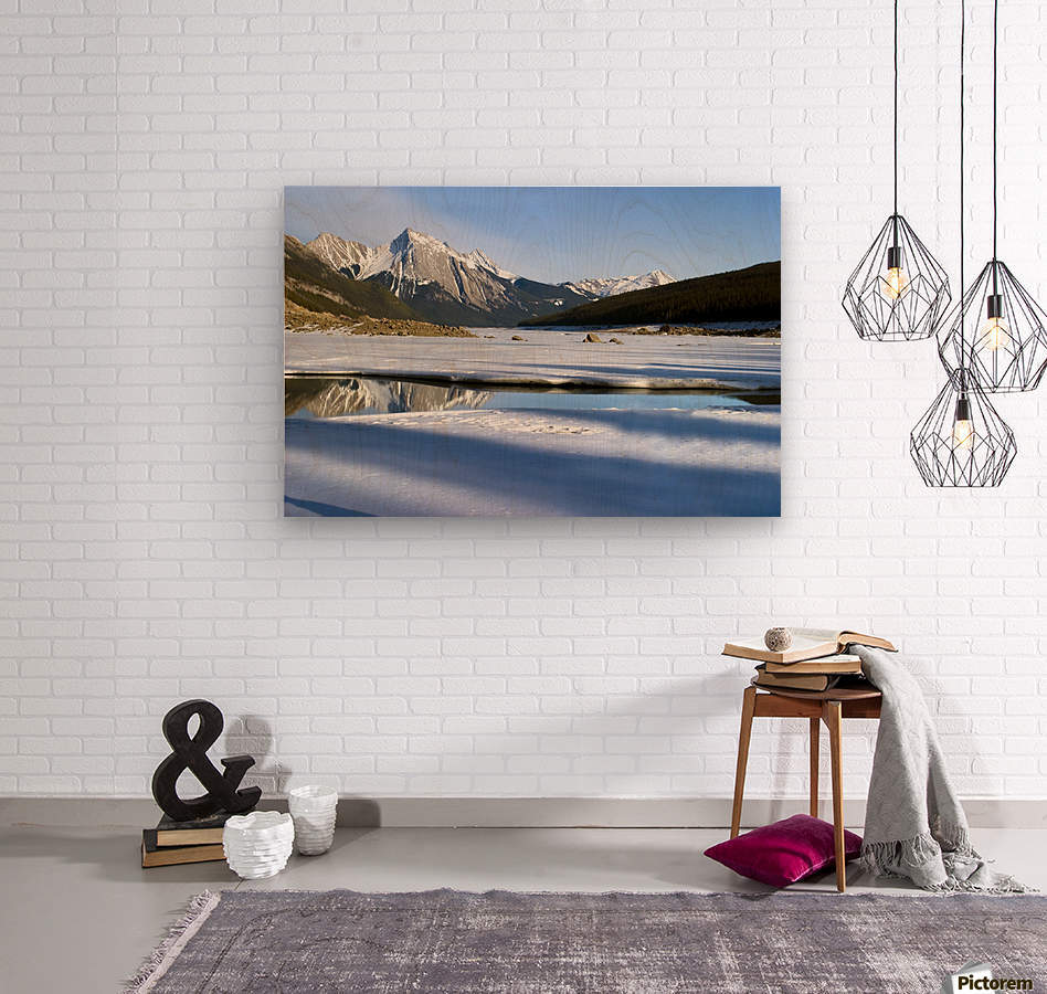 Medicine Lake, Jasper National Park, Alberta, Canada  Wood print