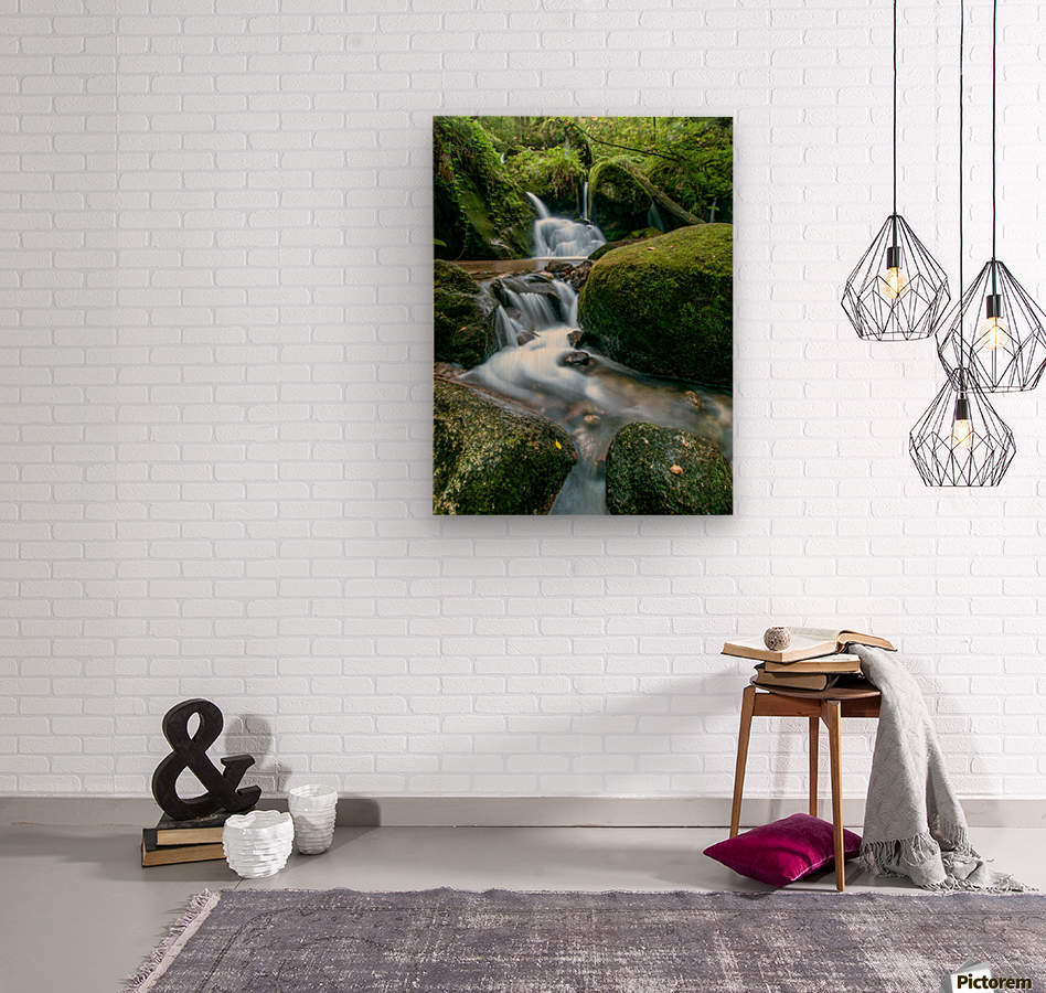 Small Waterfall in the German Black Forest  Wood print