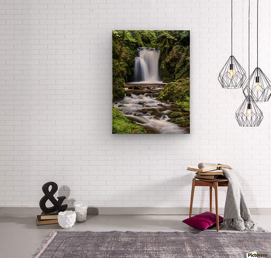Watefall in the Black Forest in Germany  Wood print