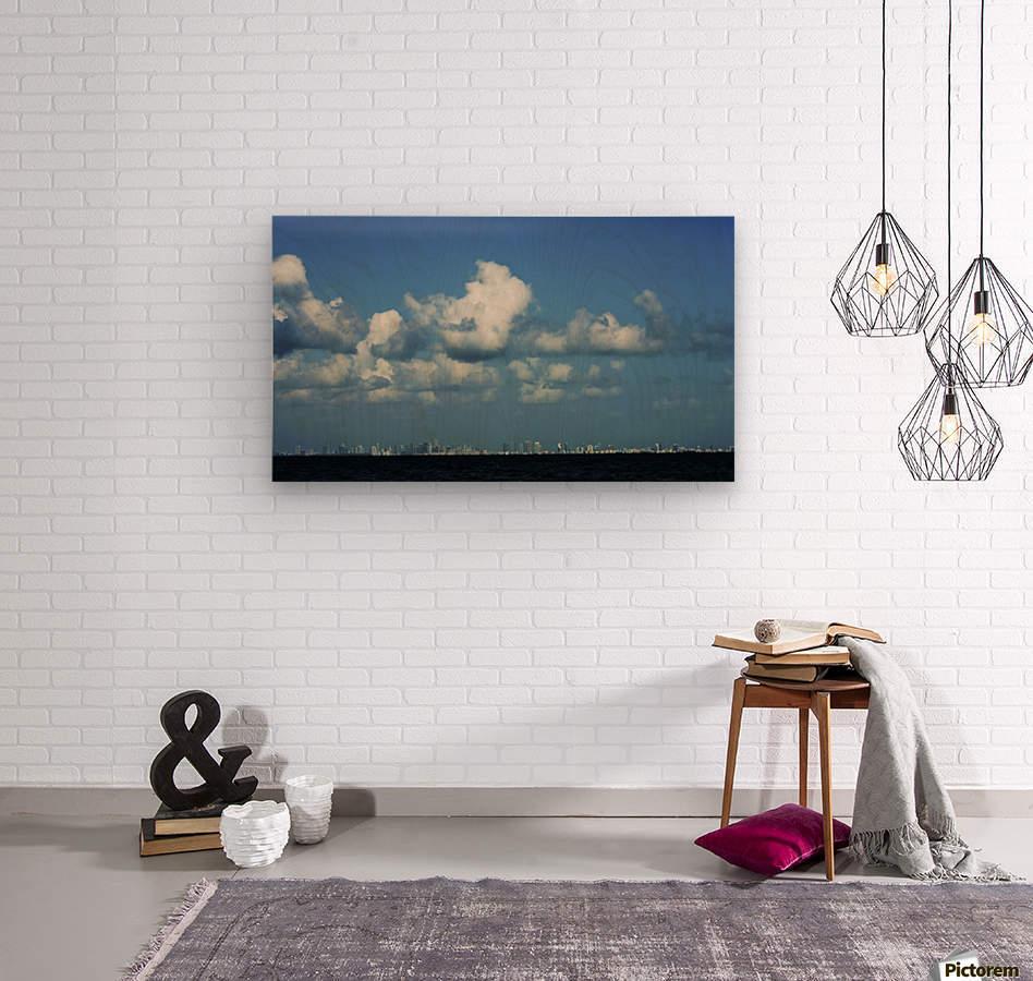 Miami Skyline  Impression sur bois