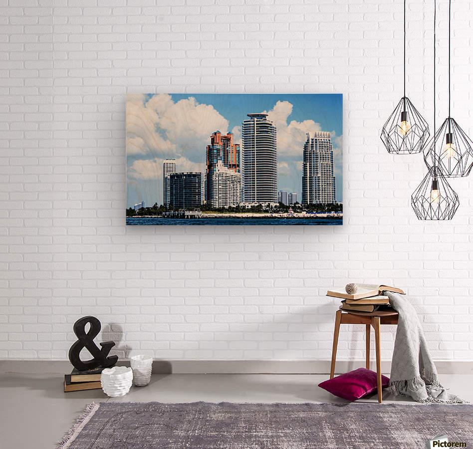 SOFI South of Fifth Miami  Wood print