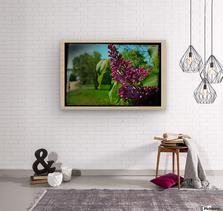Purple Flowers  Impression sur bois