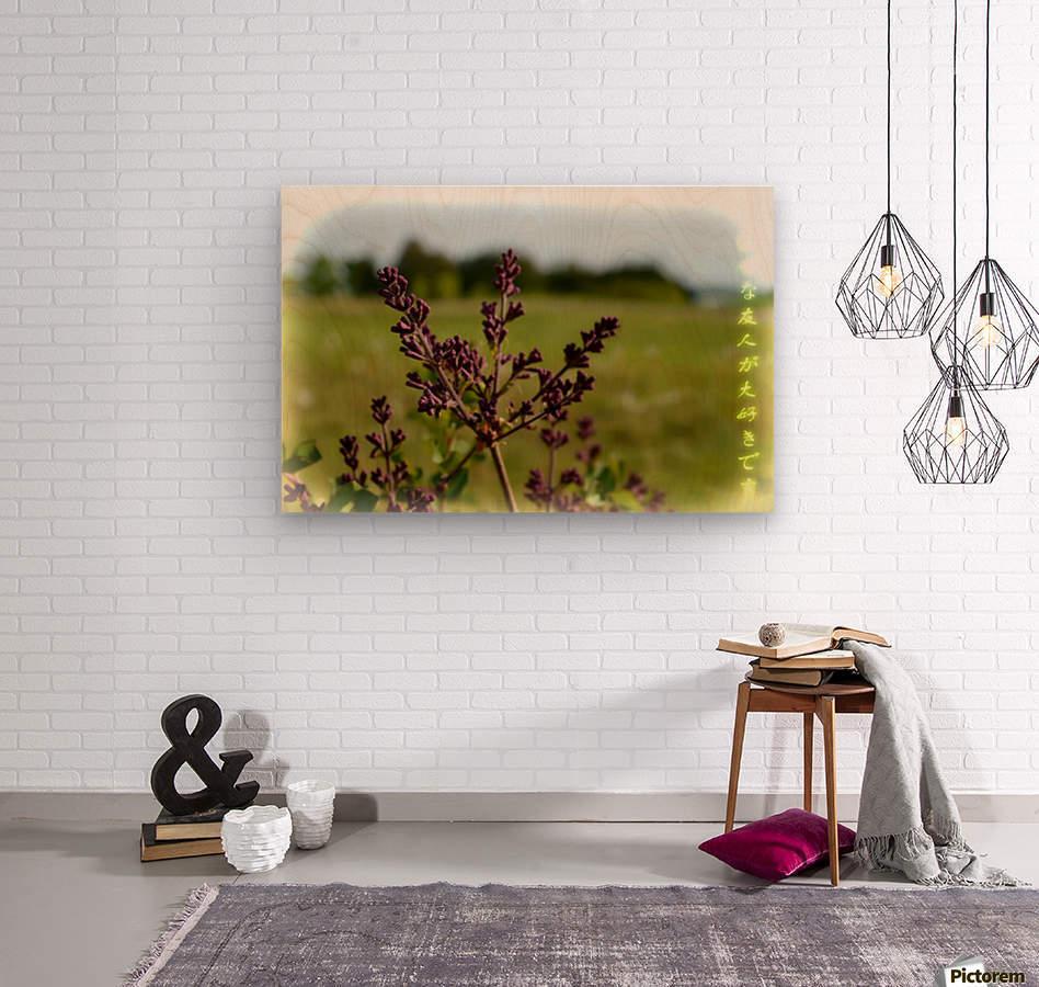 Flowers  Impression sur bois