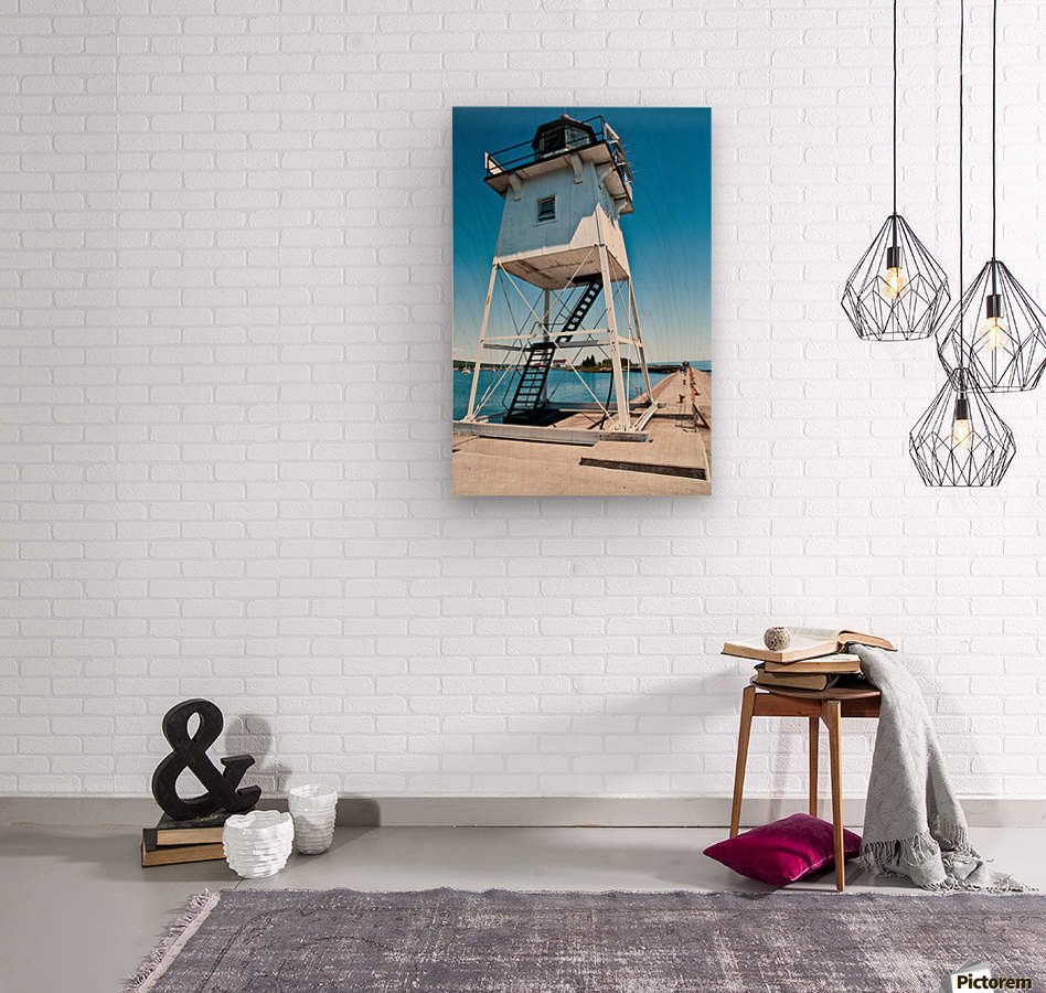 Lighthouse   Wood print