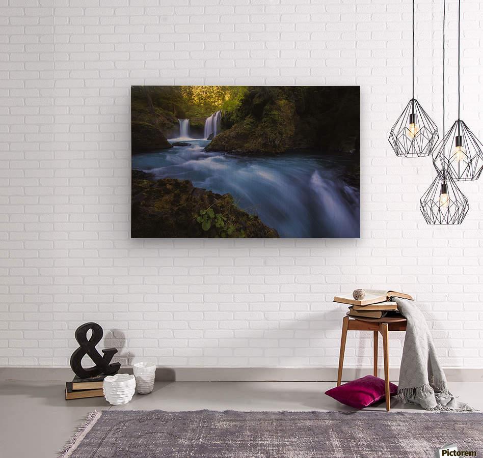 Spirit Falls; Washington, United States of America  Wood print