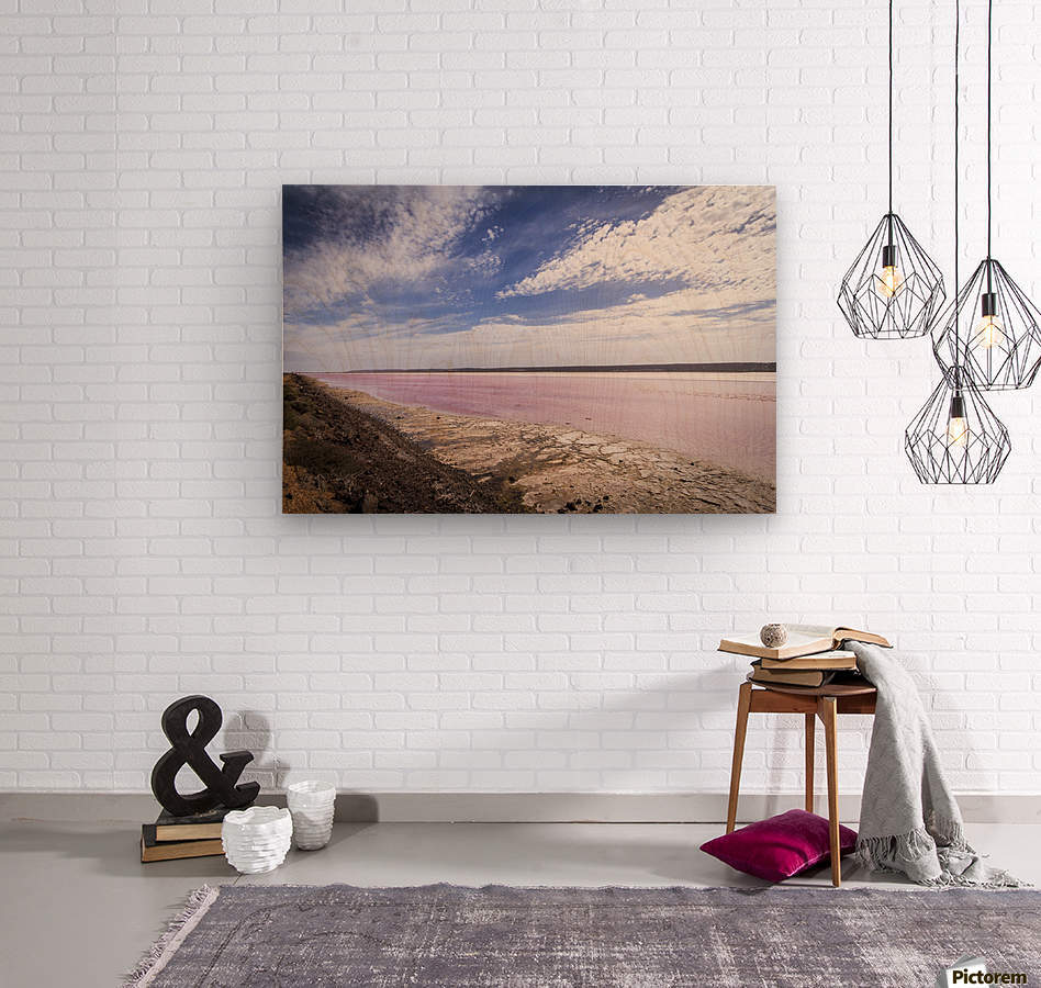 Pink Lake  Impression sur bois