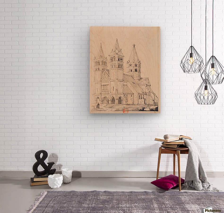 Eglise de Guebwiller  Wood print