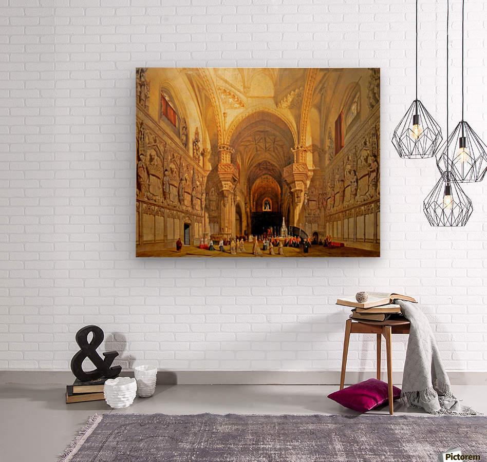 Interieur de la cathedrale Saint-Jean-des-Rois de Tolede  Wood print