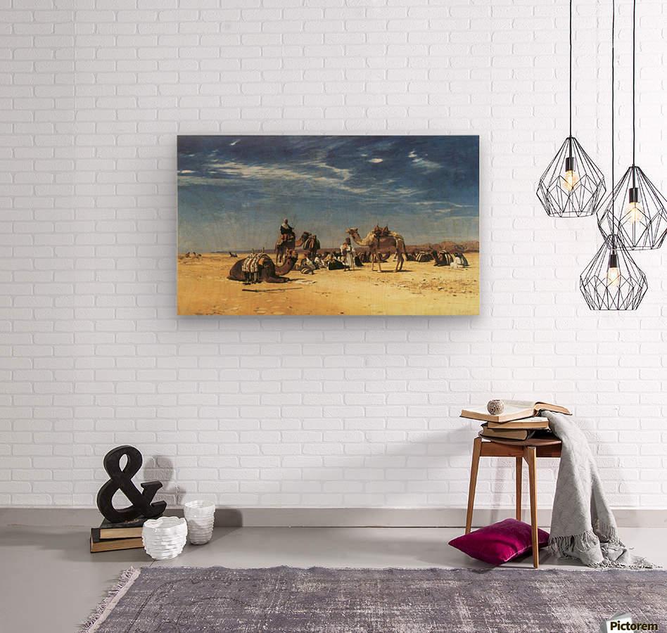 Rast in der Araba  Wood print