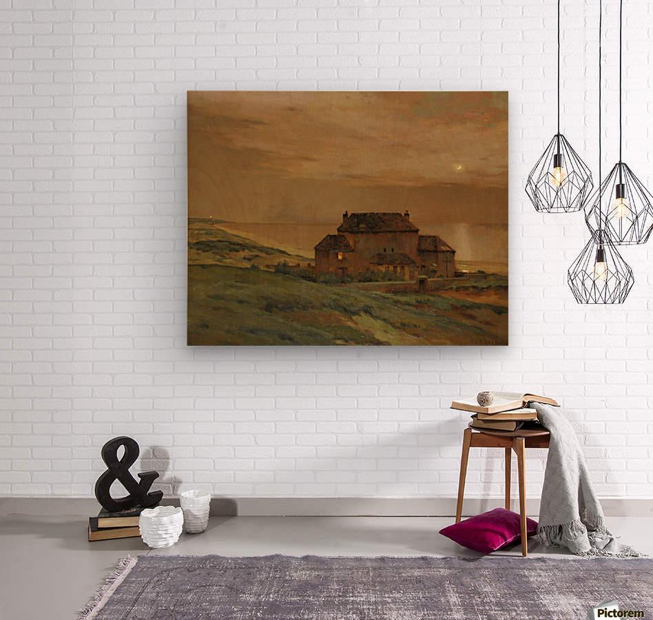 A castle  Wood print
