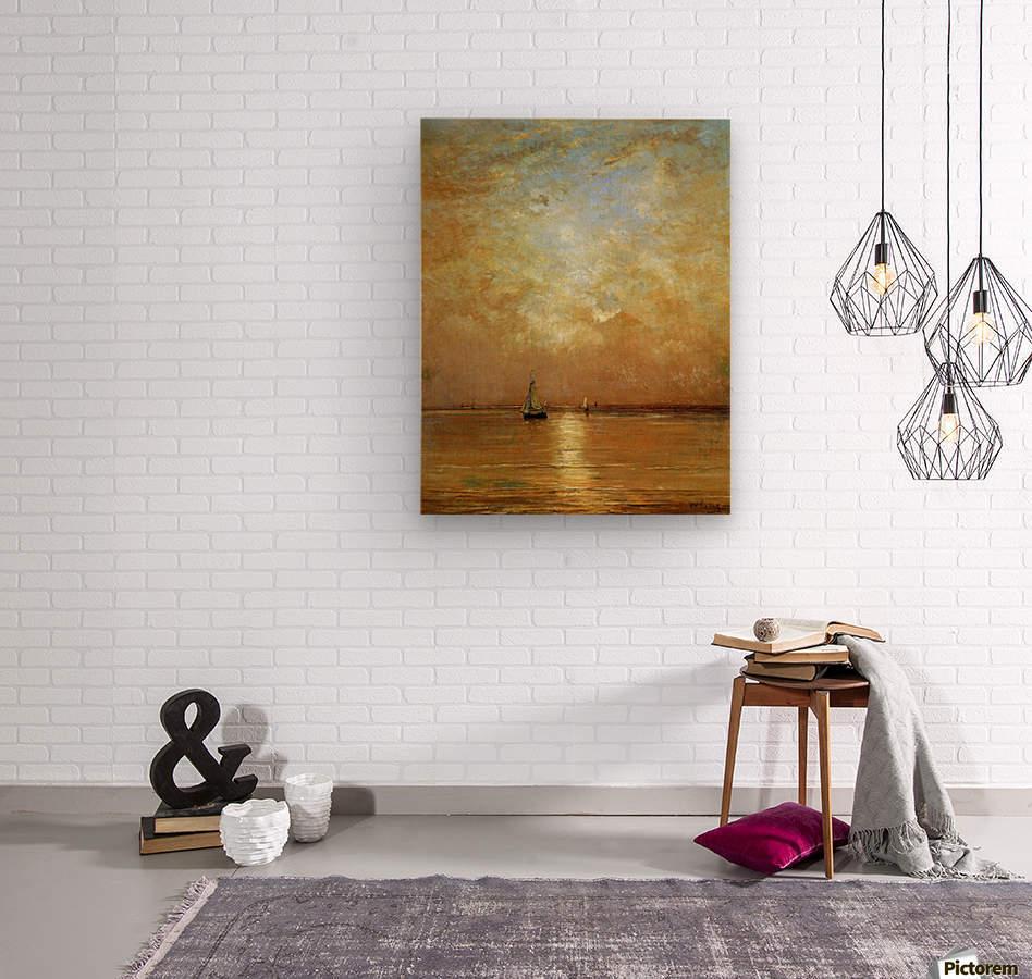 Sunset at Scheveningen Sun  Wood print