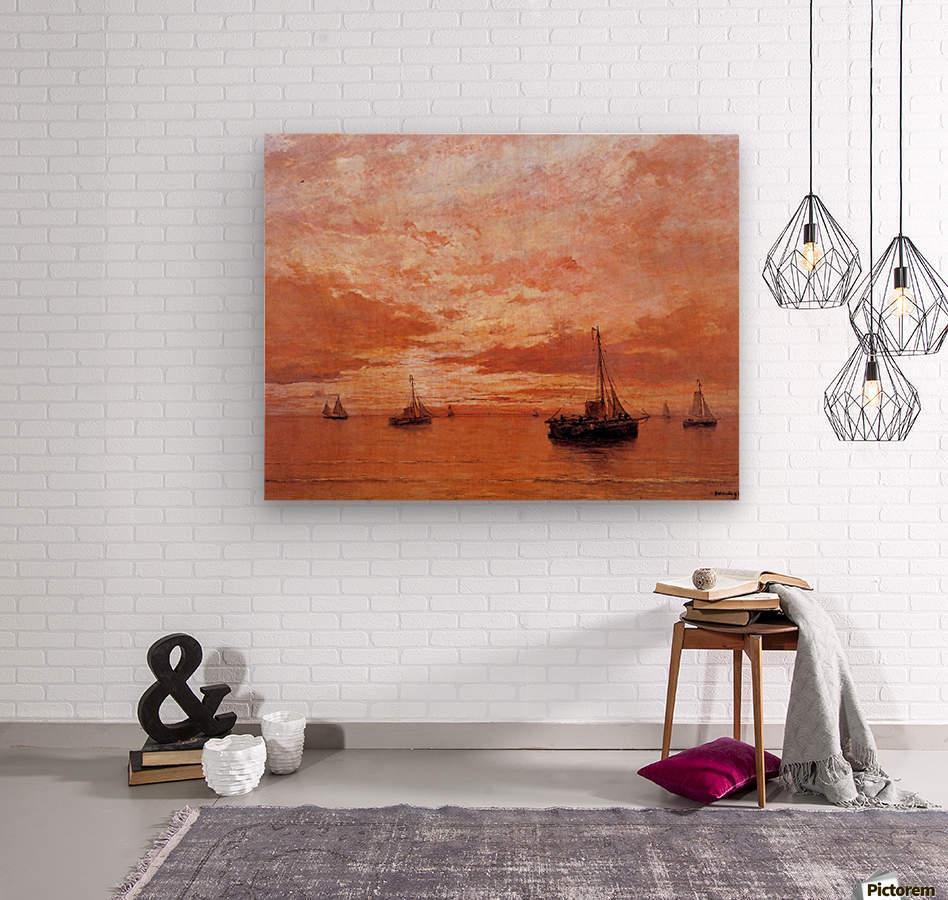 Calm Sea Sun  Wood print