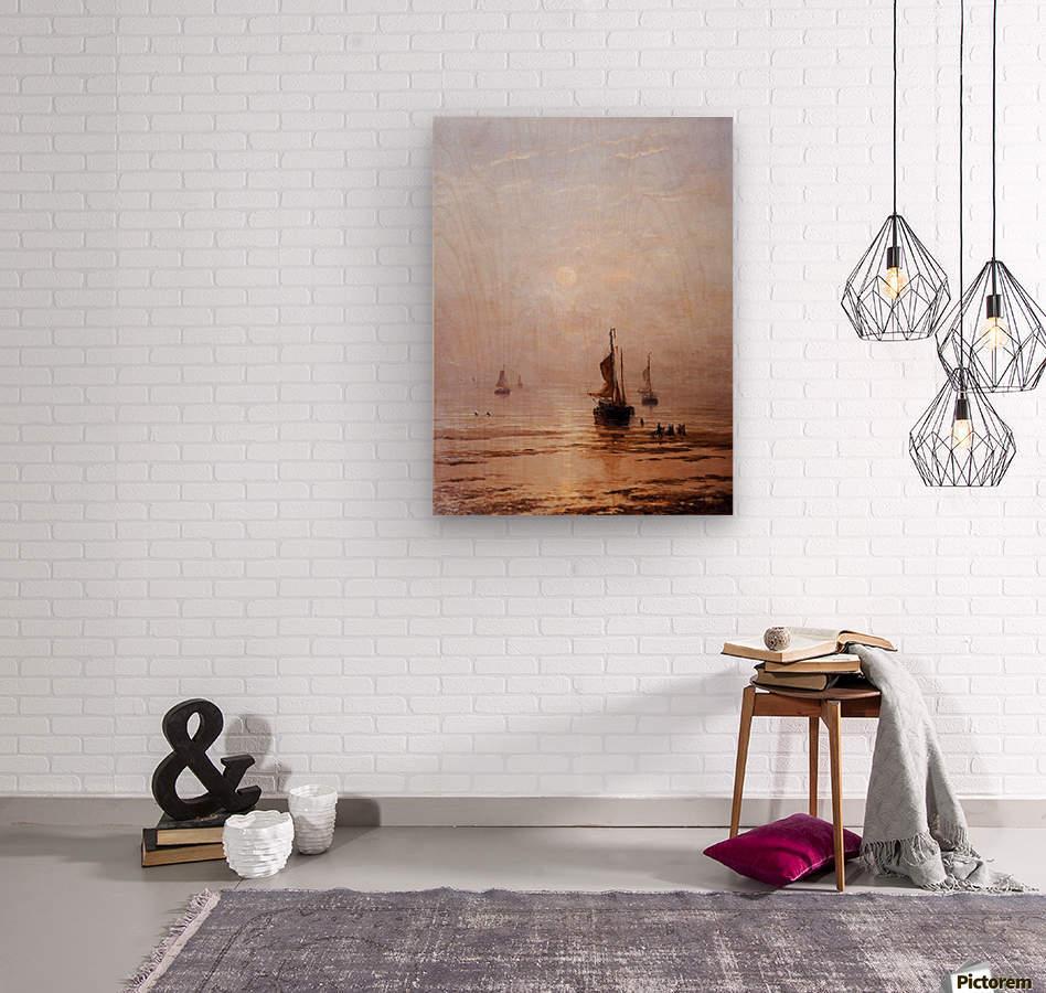 Summer Evening Scheveningen Sun  Wood print