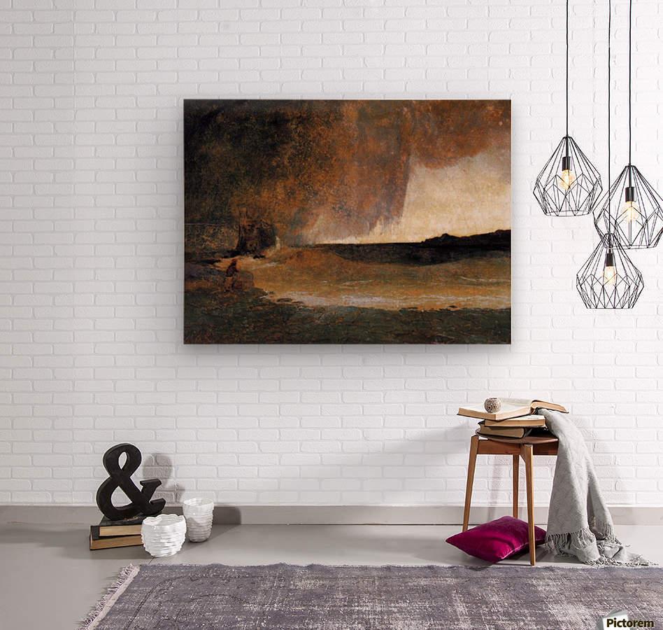 The Bay of Rapallo  Wood print