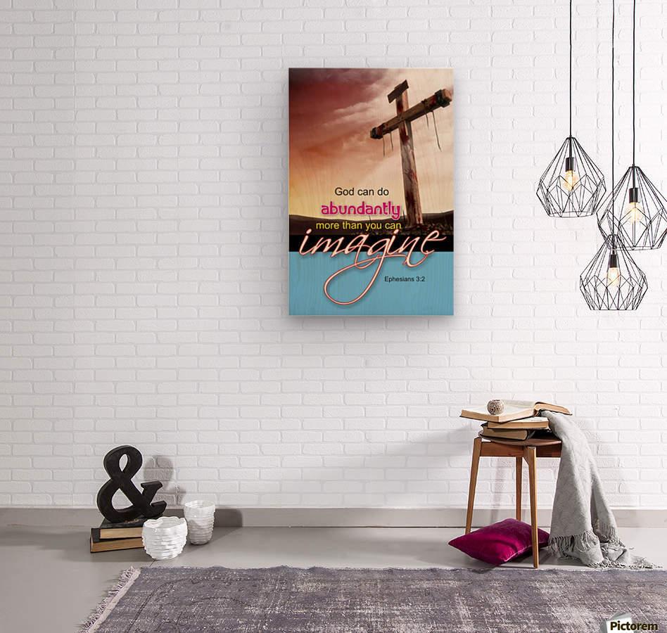 GOD CAN DO  Wood print