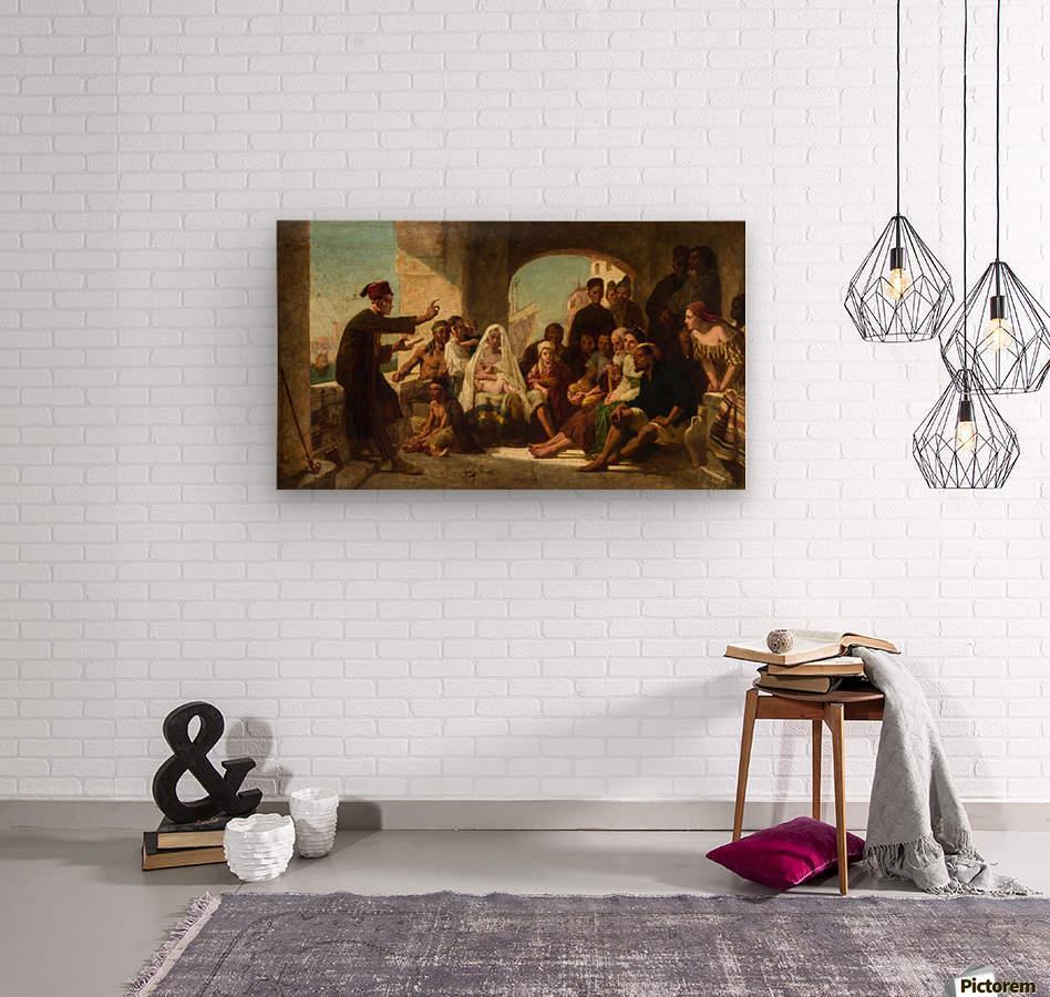 Study for Felice Ballarin Reciting  Wood print
